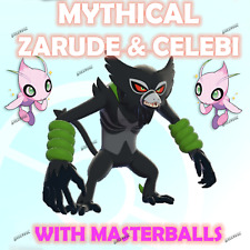 POKEMON SWORD AND SHIELD COCO MOVIE EVENT MYTHICAL 6IV ZARUDE + CELEBI