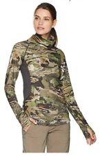 WOMENS UNDER ARMOUR MID SEASON REACTOR COZY NECK FOREST CAMO SHIRT SIZE XL NWT