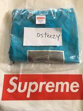 Supreme SS18 Chair T-Shirt, Cyan, Medium, In Hand, Deadstock