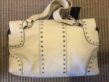 BCBG MAX AZRIA medium size off white LEATHER HOBO SATCHEL TOTE PURSE BAG new nwt