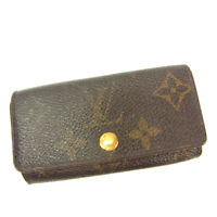 Louis Vuitton Key holder Monogram Brown Woman unisex Authentic Used Y5688