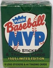 1989 Fleer Baseball MVP Limited Edition Factory Sealed Set 44 Cards