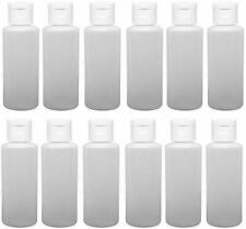 1 Oz LDPE Easy Squeeze Bottles with White, Leak Free Flip Top Caps - Pack of 12