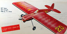 "Goldberg BUSTER PLAN + PARTS PATTERNS for a 40"" Profile UC Stunt Model Airplane"