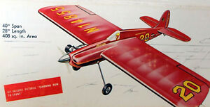 """Goldberg BUSTER PLAN + PARTS PATTERNS for a 40"""" Profile UC Stunt Model Airplane"""