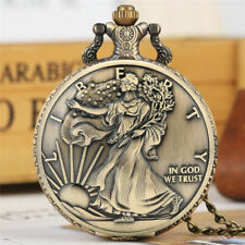 """Timepiece ! What'S In Your Pocket? Vintage """"Walking Liberty"""" Coin Pocket Watch"""