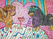 Tibetan Mastiff Masquerade Martini Folk Art Print 8 x 10 Dog Collectible Signed