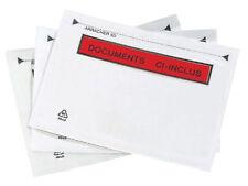100 POCHETTES ADHESIVES DOCUMENT CI INCLUS 220x110 M/M  AUTOCOLLANTES A4 EN 3