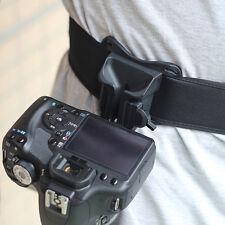 Quick Release Camera Holster Waist Belt Buckle Button Mount Clip For Camera DSLR