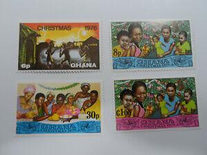 Discount Stamps : GHANA 1976 SC# 638-596 FAMITY & CHRISTMAS DINNER 4v MNH SET