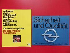 2 x altes Auto Prospekt OPEL Vollautomatik aus Rüsselsheim um 1980 ( 15319