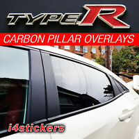 2017 Honda Civic Type R Carbon pillar vinyl overlay, sticker, decal FK8