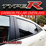 2017 Honda Civic Type R Carbon pillar vinyl overlay, sticker, decal FK8