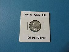 1954 s 10C GEM Brilliant Uncirculated 90% Silver Roosevelt Dime