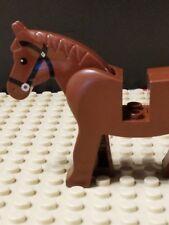 Vintage Lego Castle Brown Horse Minifigure Black Tack