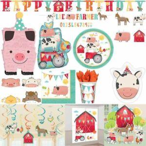 Farm Motto Party Kid's Birthday Decor Set Decoration Birthday Party Colourful