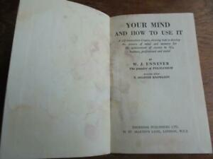 Your Mind and How to Use It, W J Ennever - 1958 Thorsons hardback - Pelmanism