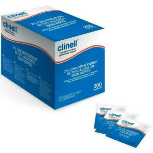 Clinell 2% Chlorhexidine In 70% Alcohol Skin Wipes x 200 - Individually Wrapped