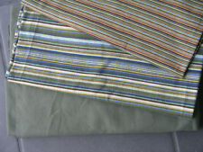 Stoff Paket 2 x Baumwolle Jersey angeraut Hilco grün gestreift 1 x sanetta