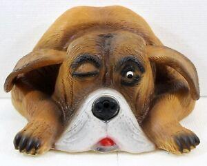 Deko Figur Hund Bello Dekofigur Büste H 12 cm Hundefigur Bewegungsmelder Wau-wau
