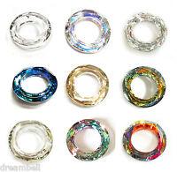 Swarovski Crystal  Element 4139 Round Cosmic Ring Frame Pendant Many Color Size