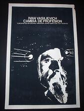 IVAN THE TERRIBLE Original '74 Cuban Poster for Soviet Time Machine Movie / CUBA