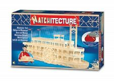 Matchitecture 6630 Mississippi River Boat Matchstick Model Kit Tracked 48 Post