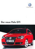 2006 Volkswagen VW Polo GTI Original Sales Brochure German Prospekt