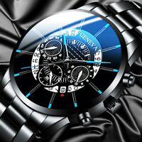 Luxury Men Watch Business Stainless Steel Date Sport Analog Quartz Wrist Watch