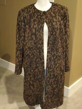 NWOT Boden Faux Fur Animal Print Coat SZ 16 Retail $229.