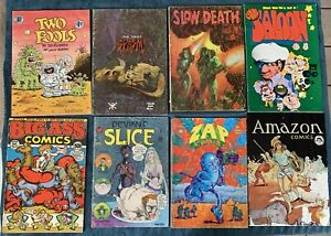 8 Miscellaneous Underground Comics  Low Grade Reading Lot #5  Zap Comix #4