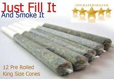 King Size Rizla Cones Pre Rolled Cigarette Smoking Tobacco Thin Paper (P)12 cone