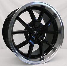 "18"" Black Mustang FR500 Wheels Rims Staggered 18x9 18x10 5x114.3 5x4.5 94-04"