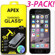 3xApple iPhone 6 6S Panzerglas Schutzfolie Echt Glas Panzerfolie Tempered Glass