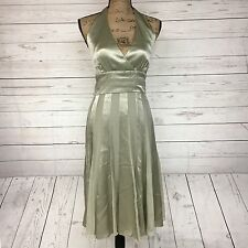 Calvin Klein 100% Silk Halter A-Line Dress Size 10