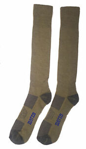 BATES  LIGHTWEIGHT OVER THE CALF ARMY BROWN 1 PK SOCKS FREE USA SHIPPING