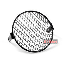 """Old Style Motorcycle Headlight Mesh Grill Cover Mask 6.7"""" 170mm Diamond Twill"""