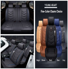 6D Luxury Microfiber Leather Full-surrounded Car Seat Covers Cushion w/Storage