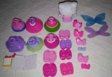 Hello Kitty Sanrio Lot 1 Figure, 6 outfits, 6 Pair Shoes, 6 Hair pieces & More.