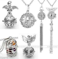 Silver Openable Locket Owl Heart Bird Cage Ball Pendant Fit Necklace Chakra Bead