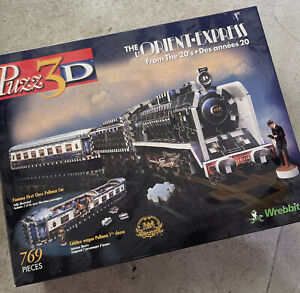 WREBBIT PUZZ 3D  Orient Express Train Puzzle 769 Foam Backed Pcs 1:32 Scale