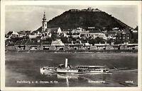 Hainburg an der Donau Niederösterreich AK 1958 Schlossberg mit Donau Schiff Ship