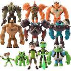 11pcs PVC Action Figures Toys Set Ben 10 Ten Tennyson Four Arms Heatblast Gifts
