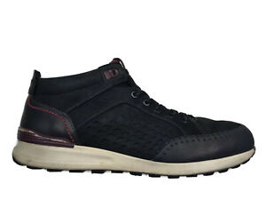 ECCO Leather Mid Ankle Boots Sneakers Chukkas Lace Up Men Sz 10-10.5/44 W/ Flaw