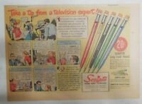 Scripto Pens & Pencils Ad: Tip From TV Expert ! from 1940's Size: 7.5 x 10 in
