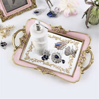 32x21cm Vintage Mirror Glass Tray Cosmetic Makeup Jewelry Display Holder Decor