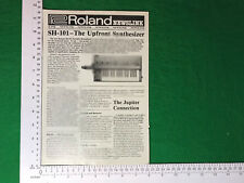 Roland newslink VINTAGE Press Release SH-101 Synthesizer 1982 Sintetizzatore Synth
