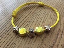 925 sterling silver links of london yellow bracelet with policemen helmet charm@