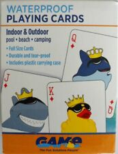 WATER PROOF PLASTIC PLAYING CARDS FOR HOT TUBS SPAS AND POOLS