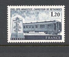 France 1978 SG 2284 Armistice Anniversary Railway MNH